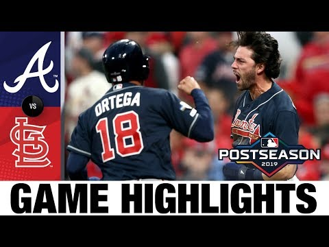 Swanson, Duvall lead Braves to dramatic Game 3 win | Braves-Cardinals Game Highlights 10/6/19