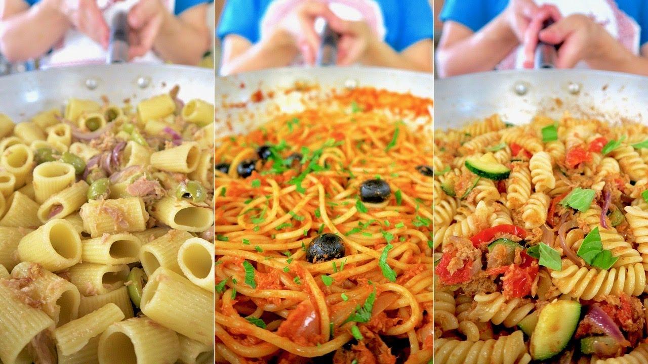 3 idee per pasta con tonno ricetta facile in 3 versioni for Ricette primi piatti
