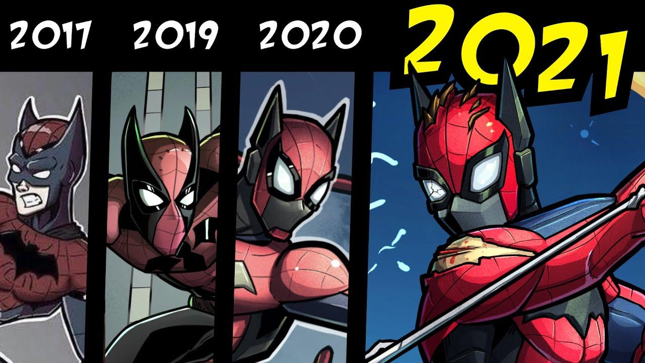 Spider-Bat: Night of the Six (Story, Speedpaint & 2021 Redraw)