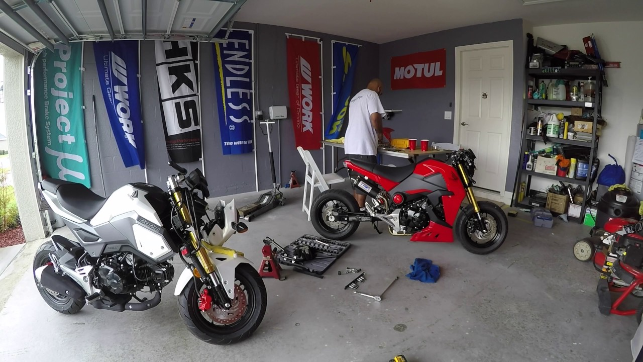 Lowering and stretching my new honda grom