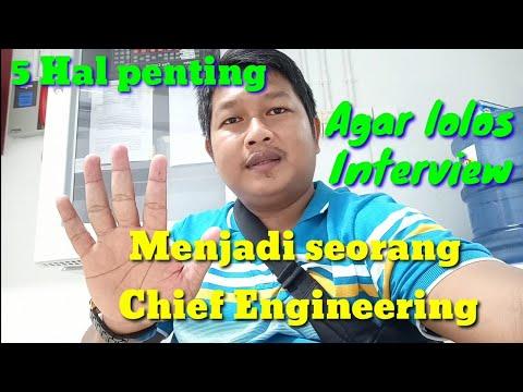 Tips menjadi chief engineering agar lolos interview