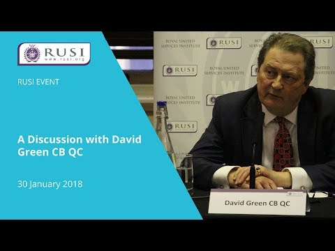 A Discussion with David Green CB QC