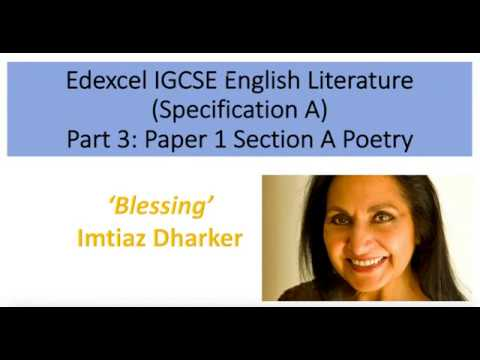 Analysis of 'Blessing' by Imtiaz Dharker