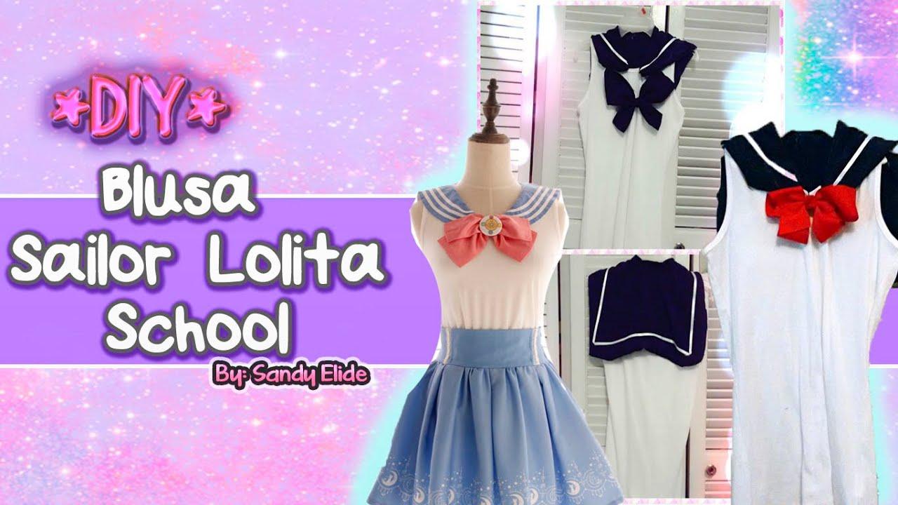 DIY❤ BLUSA ESTILO JAPONES [Lolita School Style] ! ❤ ROPA KAWAII ...