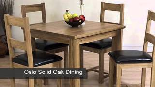 Oslo Solid Oak Dining Table & 4 Oak Chairs