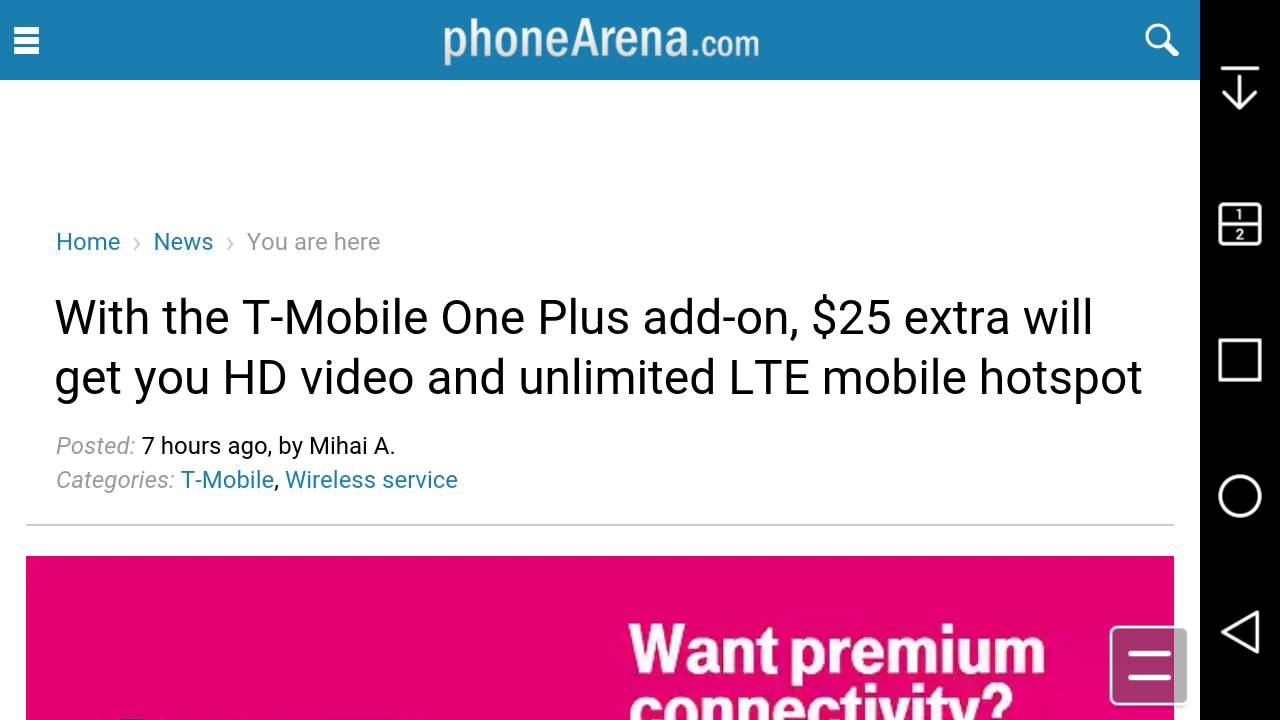 T-Mobile Launches T-Mobile One Plus for $25 Extra for 1080p HD Video &  Unlimited LTE Mobile Hotspot
