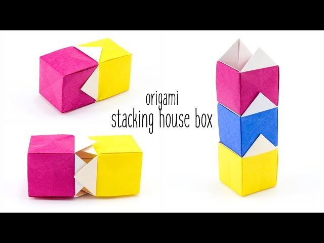 Origami Stacking House Box Tutorial - Paper Kawaii