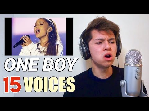 ONE BOY 15 VOICES (Ariana Grande, Shawn Mendes, Migos etc.)