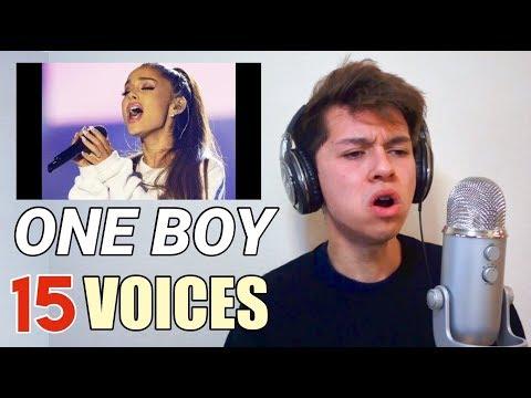 ONE BOY 15 VOICES (Ariana Grande, Shawn Mendes, Migos etc.)