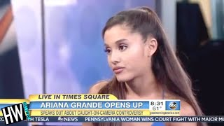 ariana grande apologizes again for licking donuts teases new music