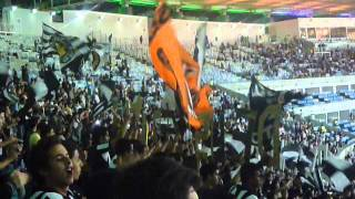 Botafogo fans before kick-off v Flamengo / Estadio do Maracana