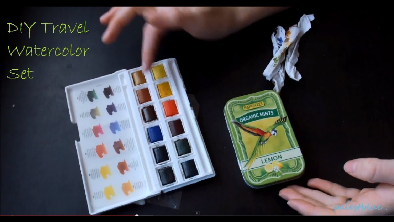 DIY Water Color Travel Set - YouTube