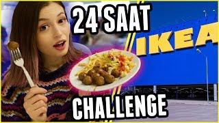 24 SAAT BOYUNCA SADECE IKEA YEMEKLERİ YEDİM!!!
