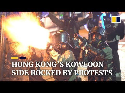 Hong Kong's Kowloon side rocked by protests