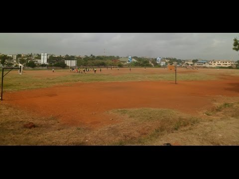 Asamoah Gyan sod cutting for Astro Turf at Accra Academy
