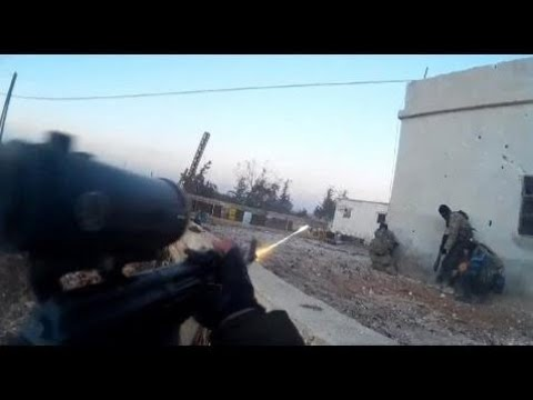 HD POV GoPro Cam Footage Of Uzbek Group In Southern Aleppo | Military News