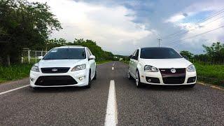 FORD FOCUS ST VS VW BORA GLI ⚫️⚪️ | Arrancones thumbnail