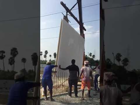 GFRG Construction:Panel Erection At Ayapakkam Chennai- Cityrene Builders