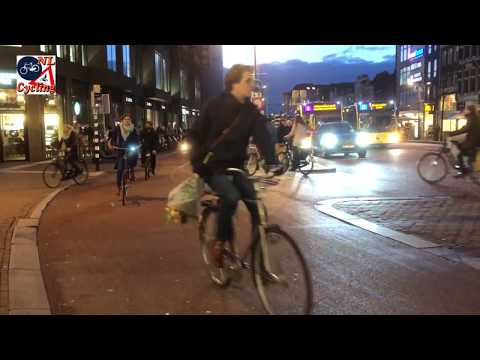 Utrecht evening cycling rush hour
