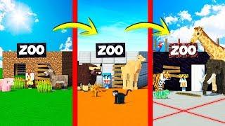 ¡PASAMOS DE ZOO NOOB A ZOO PRO! 🐯😂 ¡LOS COMPAS CUIDAN A LOS ANIMALES MÁS LINDOS DE MINECRAFT!