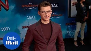 Maroon Thrive! Tom Holland at Spider-Man Far From Home premiere