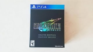 FINAL FANTASY 7 REMAKE Deluxe Edition PS4 [Unboxing]