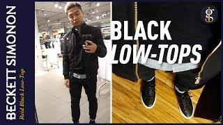 Beckett Simonon Reid Low Top Sneaker Review | Minimalist Black Leather Sneakers