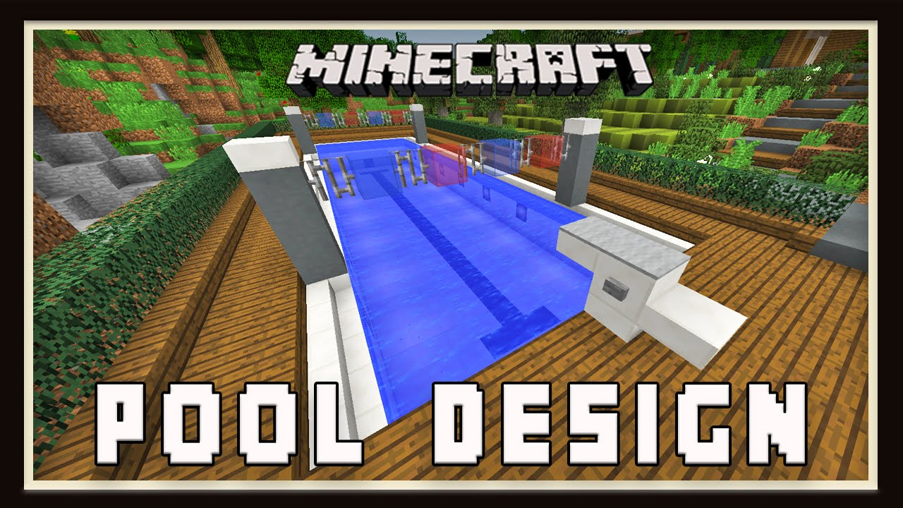 Minecraft Swimming Pool Design Modern House Tutorial Ep 25 Youtube