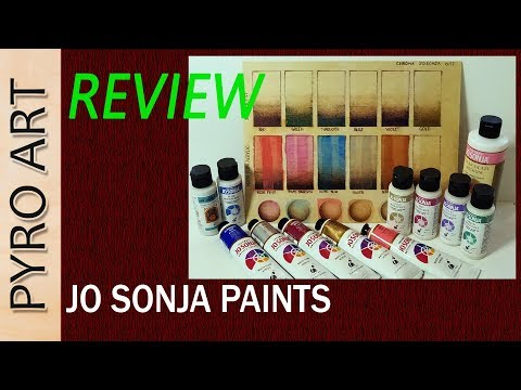 Pyrography: Jo Sonja Acrylics for Wood Burning...REVIEW