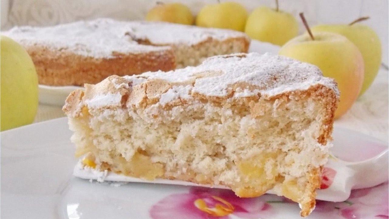 пирог с яблоками бананом и творогом