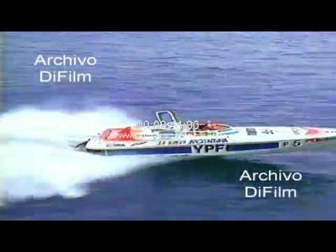 Daniel Scioli campeonato mundial de offshore en el Mediterraneo 1989