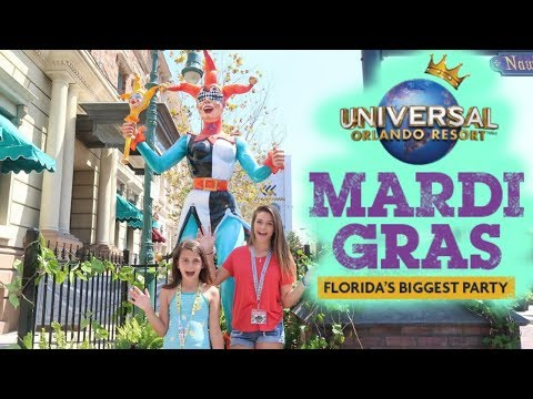 EPIC SURPRISE AT UNIVERSAL ORLANDO RESORT'S MARDI GRAS! WHY IS EMMA GROUNDED?
