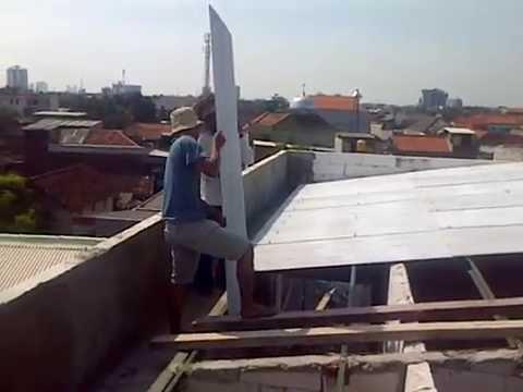 cara pemasang atap rumah dengan eter penyangga kanal C