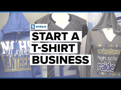 How To Start a T-shirt Business- Using a Heat Press and Vinyl Cutter