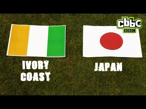 CBBC: Blue Peter tortoise World Cup 2014 Predictions - Ivory Coast V Japan