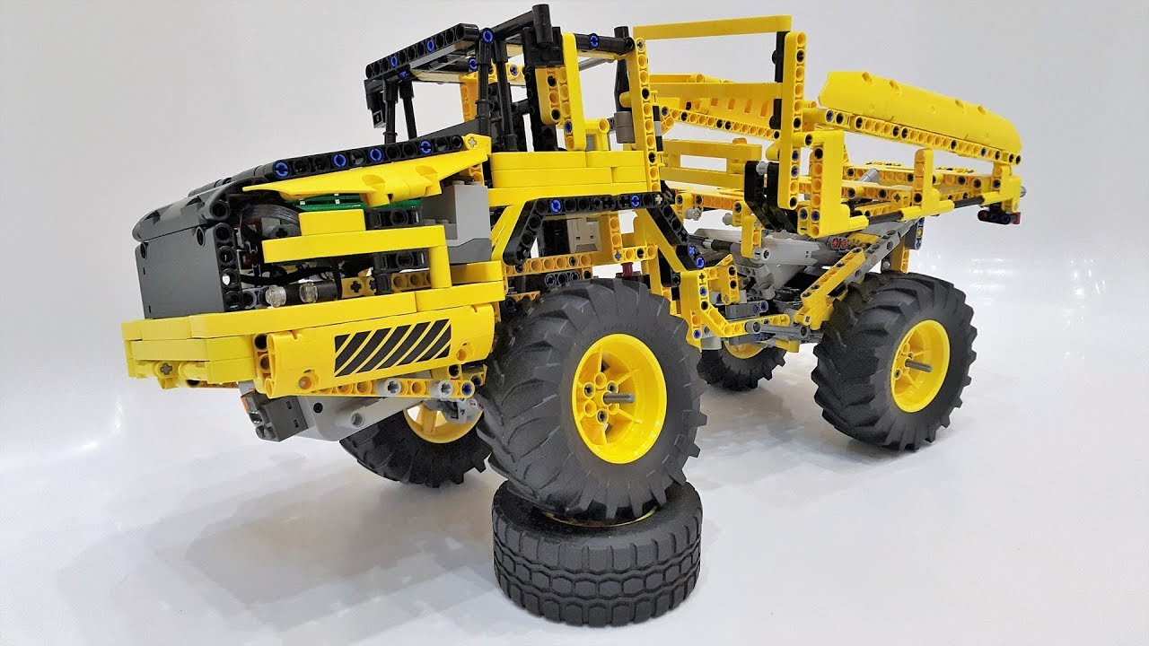Lego Technic 42030 B Model Articulated Hauler Review + Offroad Trial Mods - YouTube