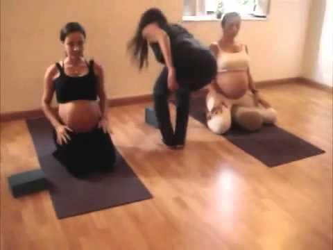 yoga para gestantes  parte 4  youtube