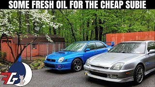 Cheapest Subaru WRX (Bugeye) in the Country Gets Desperately Needed Oil Change