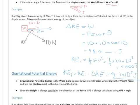 A Level Physics: Mechanics: Energy and Power