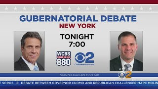 N.Y. Gov. Debate Tonight On CBS2