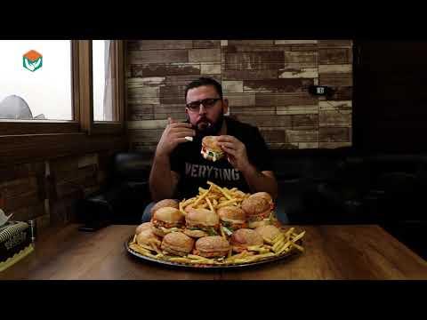 تحدي أكل 30 برغر بوزن 12 كيلوغرام
