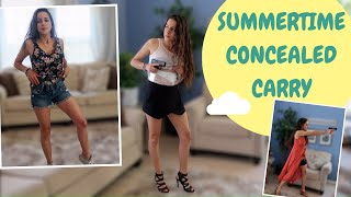 SUMMERTIME CONCEALED CARRY | How to carry (and DRAW) from different outfits and holsters!