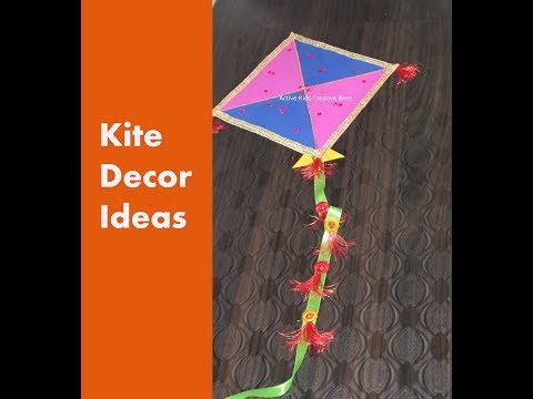 Kite Decoration Ideas | How to make a Decorative Paper Kite