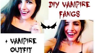 DIY Vampire Teeth + Costume