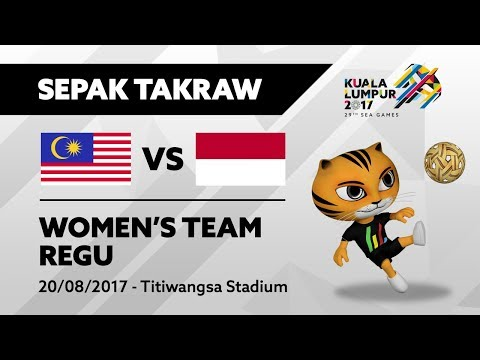 KL2017 29th SEA Games    Women's Sepak Takraw TEAM REGU - MAS 🇲🇾 vs INA 🇮🇩   20/08/2017