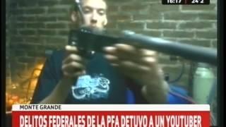 Detuvieron a youtuber que enseñaba a fabricar armas thumbnail