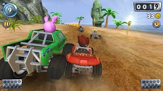 Beach buggy racing game ! race in night fog town! child racing games ! race 8
