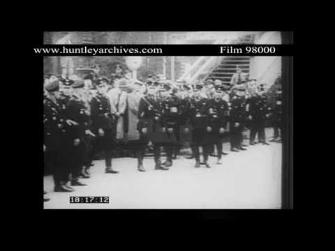Reichstag Fire, 28th February 1933.  Archive film 98000