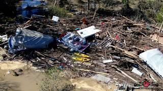 UPDATE Michigan Dams Failure Sanford Michigan 2 Dams Breached 500 Year Flood 2-3 4K Drone Must See!