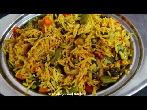 Vegetable Biryani Recipe-Variety Rice Recipe By Healthy Food Kitchen